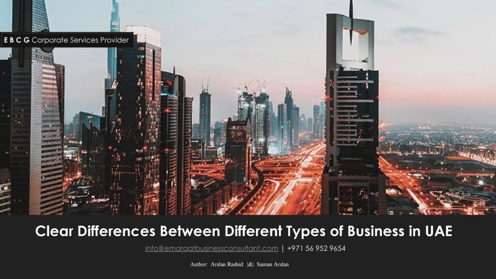 Business types of Dubai